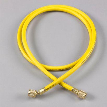 "Yellow Jacket 21048 - 48"" Yellow Hose HAV Standard Fitting PLUS II 1/4"" charging Hose"