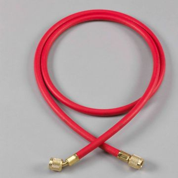 "Yellow Jacket 21725 - 25' Red Hose HAV Standard Fitting PLUS II 1/4"" charging Hose"