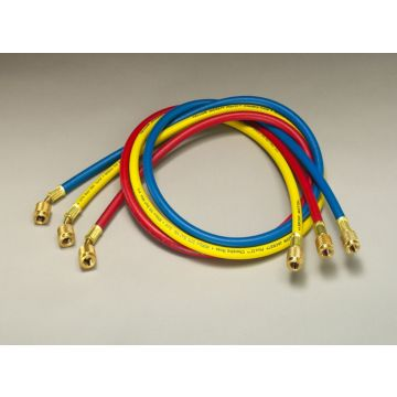 "Yellow Jacket 21985 - 60"" 3 Pack Hoses HAV Standard Fitting PLUS II 1/4"" charging Hose"