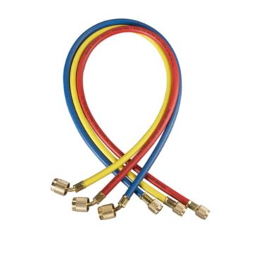 "Yellow Jacket 21986 - 72"" 3 Pack Hoses HAV Standard Fitting PLUS II 1/4"" charging Hose"