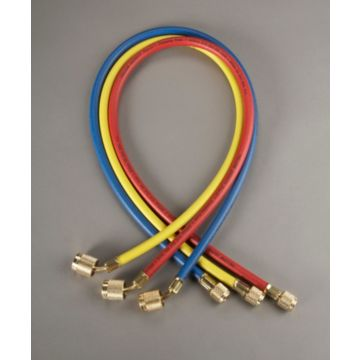 """Yellow Jacket 22983 - 36"""" 3 Pack Hoses PLUS II 1/4"""" Hose with SealRight fitting"""