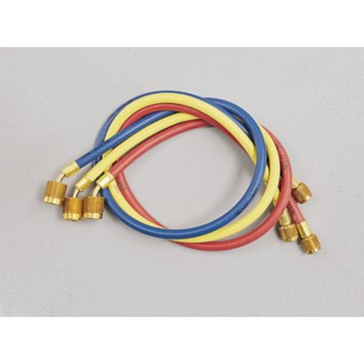 """Yellow Jacket 22985 - 60"""" 3 Pack Hoses PLUS II 1/4"""" Hose with SealRight fitting"""