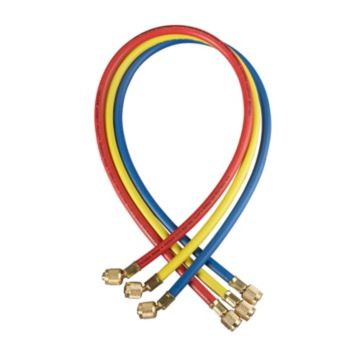"Yellow Jacket 22986 - 72"" 3 Pack Hoses PLUS II 1/4"" Hose with SealRight fitting"