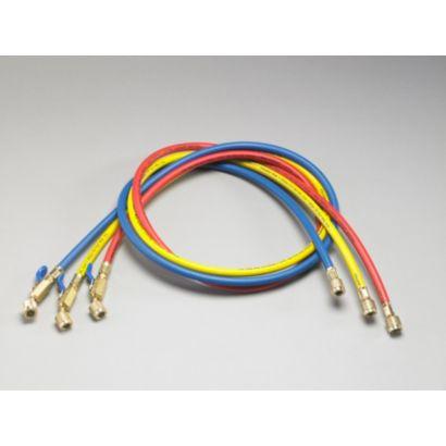 "Yellow Jacket 29985 - 60"" 3 Pack Hoses compact Ball Valve PLUS II 1/4"" Hose"