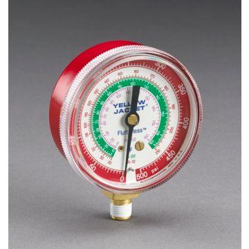 "Yellow Jacket 49001 - 2 1/2"" Ga. Red Pressure 0-500 psi R-12/22/502"