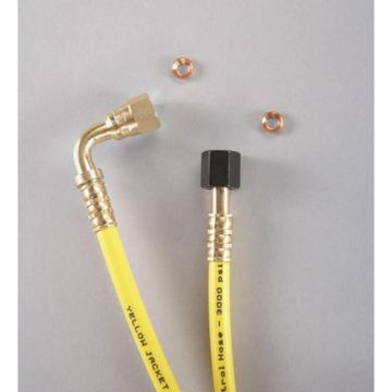 "Yellow Jacket 78736 - 36"" 1/4"" Straight x 90° high temp. Pressure Control Hose"